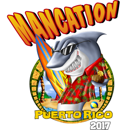Shark, vacation, mancation, holiday, surfing, tropical,Mancation,clipart,lineart,line art,t-shirt,t-shrits,tee shrits,designs,silk,screen,teeshirts, screen-printing,embroidery,logo,mascot,Vacation artwork for a mancation. Created for a friend who went to Puerto Rico with friends. Great for unique occasions. ,Awesome Company,Anytown,AZ,12345