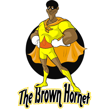 ,The Brown Hornet,clipart,lineart,line art,t-shirt,t-shrits,tee shrits,designs,silk,screen,teeshirts, screen-printing,embroidery,logo,mascot,,Qwerty Direct,Plainfield,NJ,07063