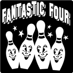 BOWLING,PINS.SMILE,Fantastic Four,clipart,lineart,line art,t-shirt,t-shrits,tee shrits,designs,silk,screen,teeshirts, screen-printing,embroidery,logo,mascot,I created this design for shirts for my nephews bowling team. The kids looked so good, the parents also wanted shirts.,Groupe Stahl,Phoenix,AZ,56224
