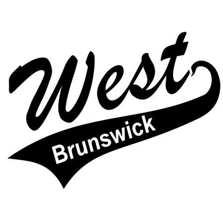 Softball, Script with Tails, Sports,West Brunswick,clipart,lineart,line art,t-shirt,t-shrits,tee shrits,designs,silk,screen,teeshirts, screen-printing,embroidery,logo,mascot,West Brunswick Softball Logo,Clemmons Screen Printing,Shallotte,NC,28470